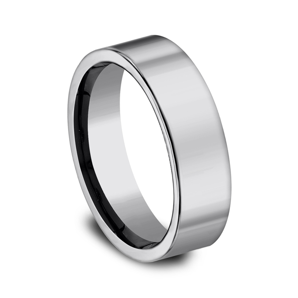 Tungsten Comfort-Fit Design Wedding Band Image 2 Piper Diamond Co. Vincennes, IN