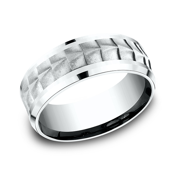 Wedding Bands - Ammara Stone Comfort-fit Design Ring - image #3