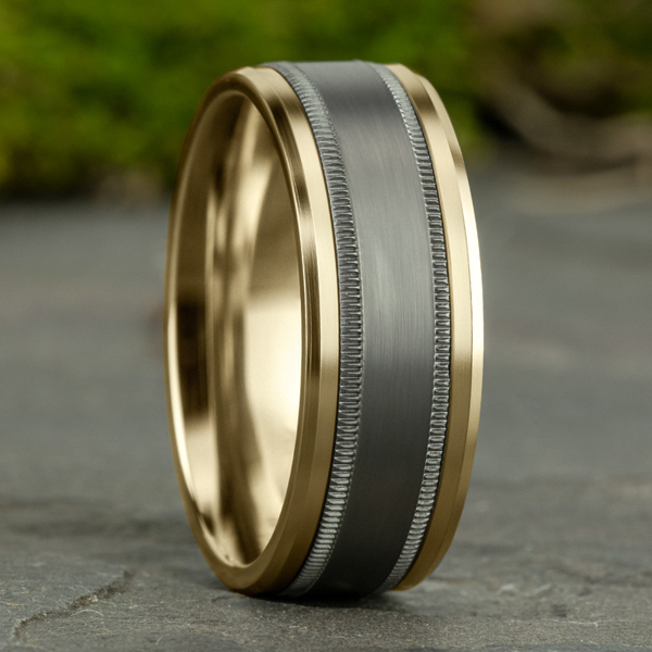 Ammara Stone Comfort-fit Design Wedding Band Image 4 Rick's Jewelers California, MD