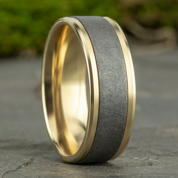 Ammara Stone Comfort-fit Design Wedding Band Image 4 Confer's Jewelers Bellefonte, PA