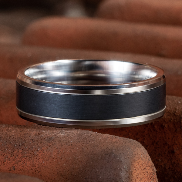 Wedding Bands - Ammara Stone Comfort-fit Design Ring - image #4