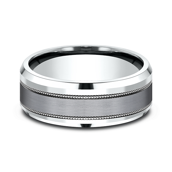 Ammara Stone Comfort-fit Design Wedding Band Image 3 Rick's Jewelers California, MD