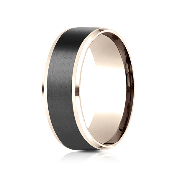 Gold/platinum/palladium Wedding Bands - Ammara Stone Comfort-fit Design Ring