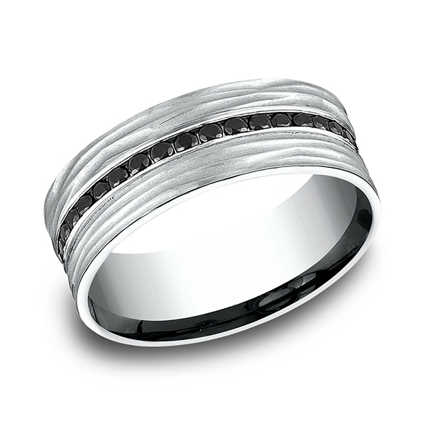 Men's Wedding Bands - Ammara Stone Comfort-fit Diamond Ring - image #3