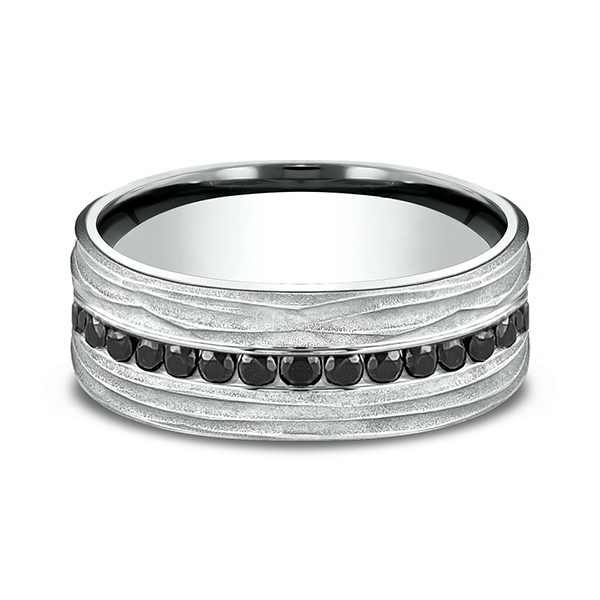 Men's Wedding Bands - Ammara Stone Comfort-fit Diamond Ring - image #2
