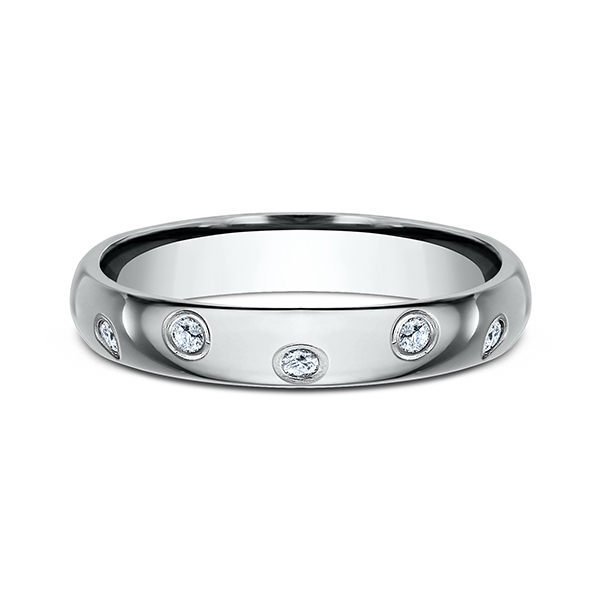 Wedding Bands - Comfort-Fit Diamond Wedding Ring - image 3