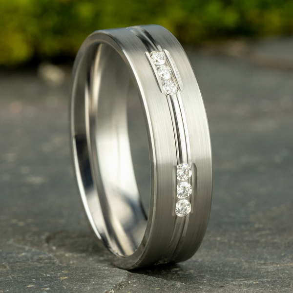 Comfort-Fit Diamond Wedding Band Image 4  ,