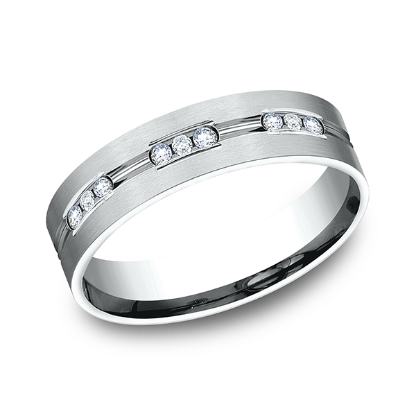 Gold/platinum/palladium Wedding Bands - Comfort-Fit Diamond Wedding Band