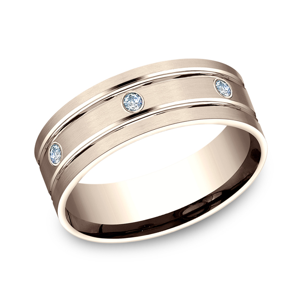 Comfort-Fit Diamond Wedding Band Mark Allen Jewelers Santa Rosa, CA