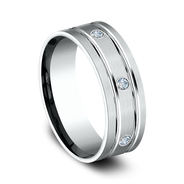 Comfort-Fit Diamond Wedding Band Image 2 Joel's Gold Store Woodland Hills, CA