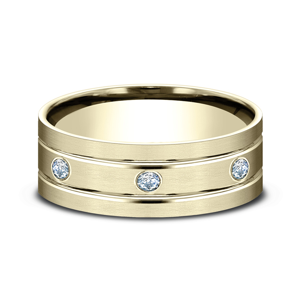 Comfort-Fit Diamond Wedding Band Image 3 Miner's North Jewelers Traverse City, MI