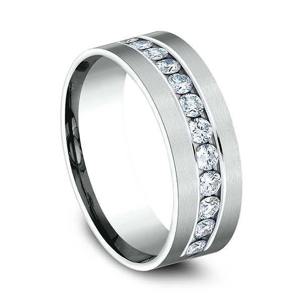 Comfort-Fit Diamond Wedding Band Image 2  ,