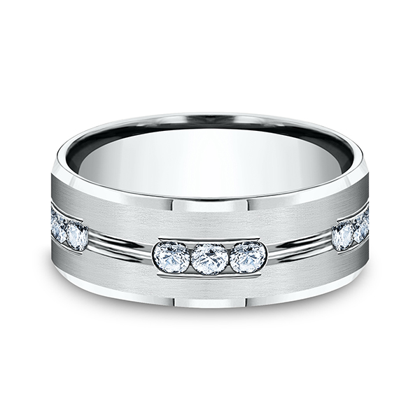 Comfort-Fit Diamond Wedding Band Image 3 Geoffreys Diamonds & Goldsmith San Carlos, CA