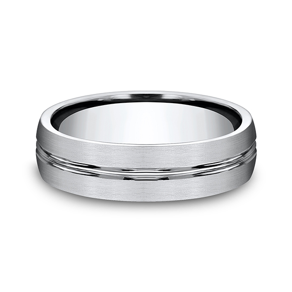 Cobalt Comfort-Fit Design Wedding Band Image 3  ,