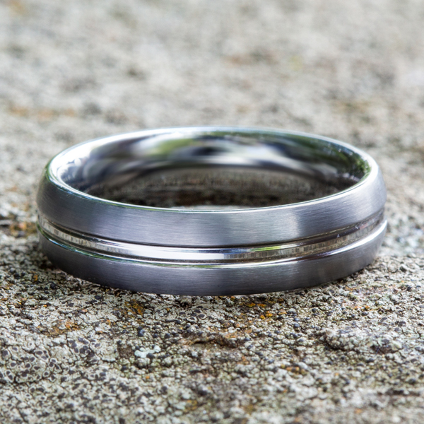 Tungsten Comfort-Fit Design Wedding Band Image 4 Confer's Jewelers Bellefonte, PA