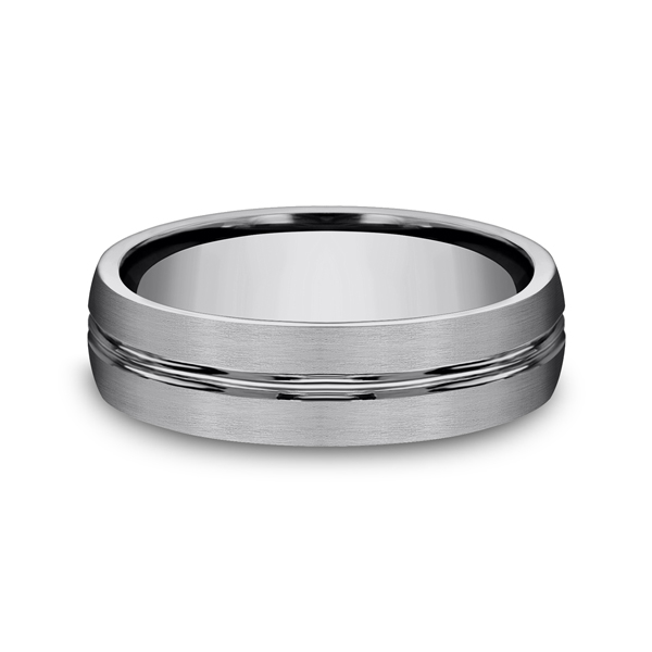 Tungsten Comfort-Fit Design Wedding Band Image 3 Confer's Jewelers Bellefonte, PA
