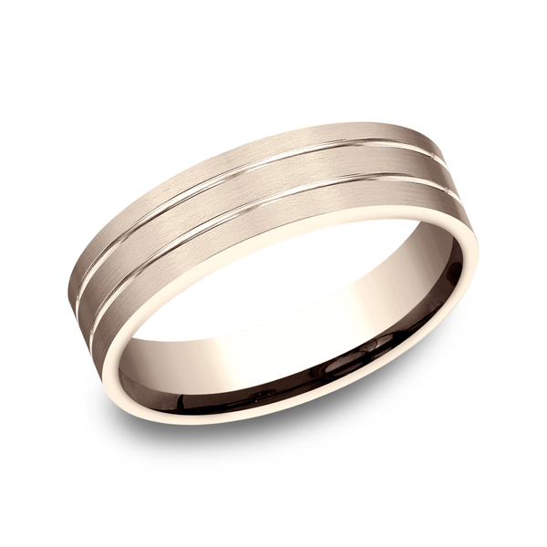 Gold/platinum/palladium Wedding Bands - Comfort-Fit Design Wedding Ring
