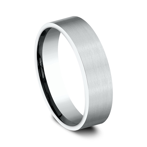 Comfort-Fit Design Wedding Band Image 2 Simones Jewelry, LLC Shrewsbury, NJ