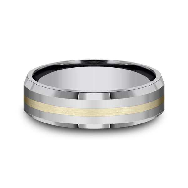 Tungsten Comfort-Fit Design Wedding Band Image 3 Arezzo Jewelers Chicago, IL