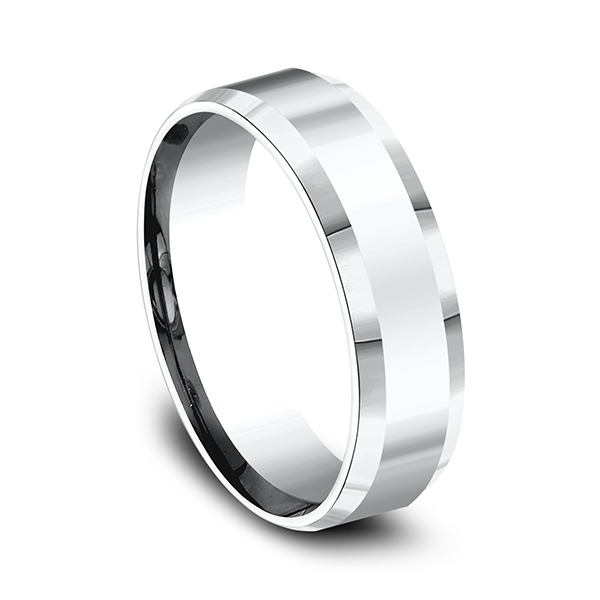 Mens Bands - Comfort-Fit Design Ring - image #2