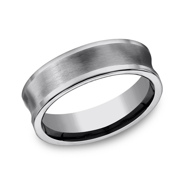 Tungsten Comfort-Fit Design Wedding Band Confer's Jewelers Bellefonte, PA