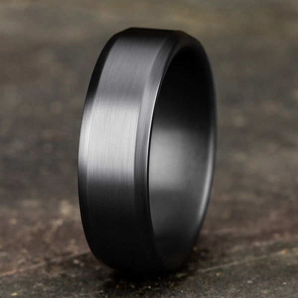 Tantalum Comfort-fit wedding band Image 4 Jones Jeweler Celina, OH