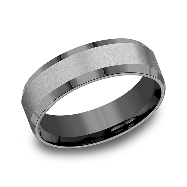 Wedding Bands Tantalum Comfort Fit Design Ring