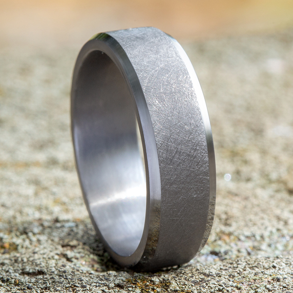 Grey Tantalum Comfort-fit wedding band Image 4 Confer's Jewelers Bellefonte, PA