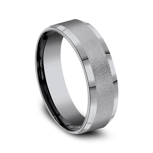 Grey Tantalum Comfort-fit wedding band Image 2 Confer's Jewelers Bellefonte, PA