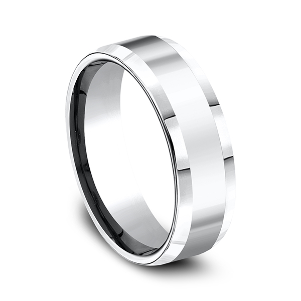 Wedding Rings - Cobalt Comfort-Fit Design Ring - image #3
