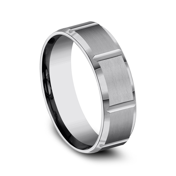 Tungsten Comfort-Fit Design Wedding Band Image 2 Geoffreys Diamonds & Goldsmith San Carlos, CA