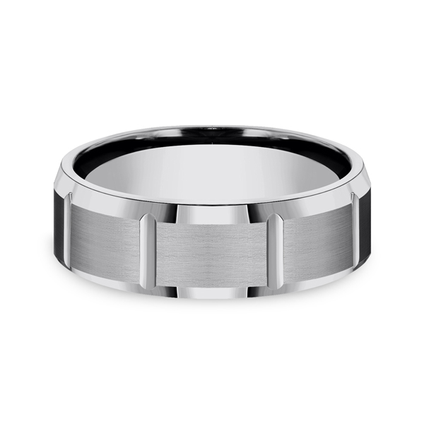 Tungsten Comfort-Fit Design Wedding Band Image 3 Geoffreys Diamonds & Goldsmith San Carlos, CA