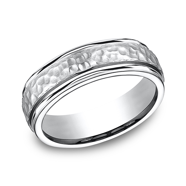 Cobalt Comfort-Fit Design Wedding Band by Forge