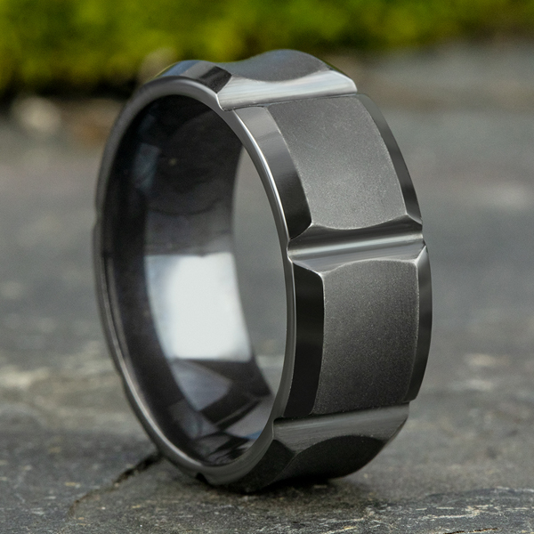 Tantalum Comfort-fit Design Wedding Band Image 4 Mitchell's Jewelry Norman, OK