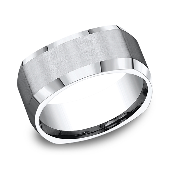 Men's Wedding Bands - Cobalt Comfort-Fit Design Wedding Band