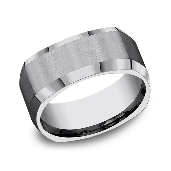 Wedding Rings - Tungsten Comfort-Fit Design Wedding Band