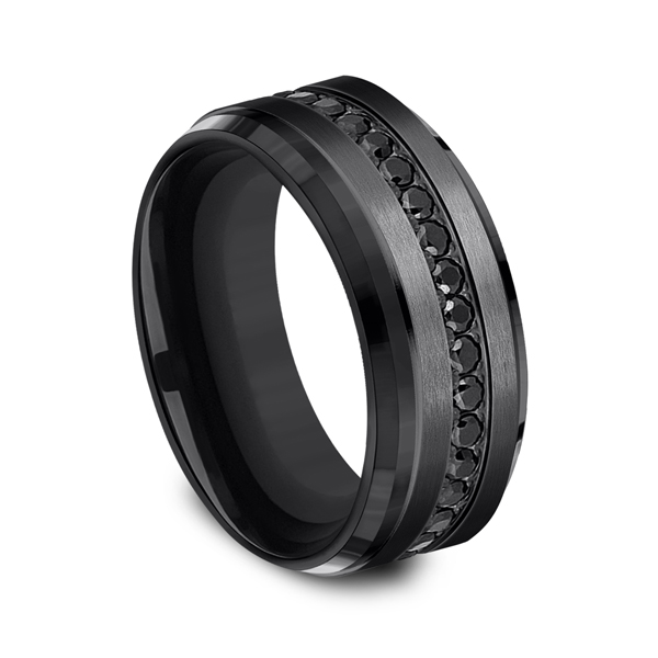 Black Titanium Comfort-Fit Design Wedding Band Image 2 Confer's Jewelers Bellefonte, PA