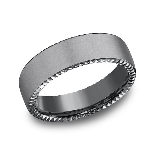 Tantalum Comfort-fit Design Wedding Band Mitchell's Jewelry Norman, OK