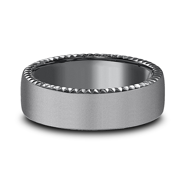 Tantalum Comfort-fit Design Wedding Band Image 3 Mitchell's Jewelry Norman, OK