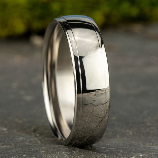 Shop our collection of men's wedding bands or custom design your own!  Eco-friendly and ethically sourced. Classic - image #4