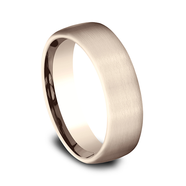 Gold/platinum/palladium Wedding Bands - Comfort-Fit Design Wedding Ring - image #2