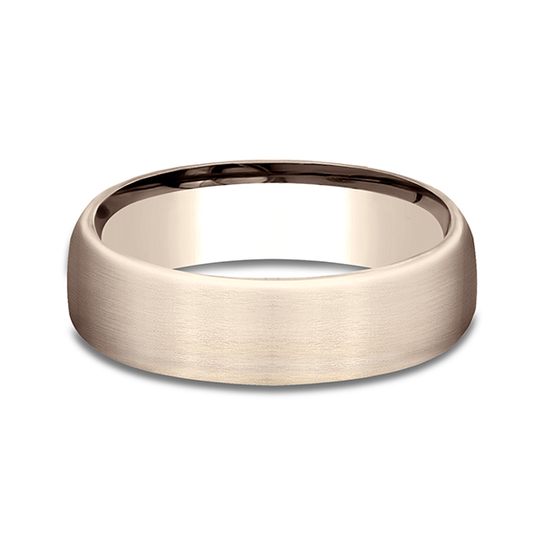 Gold/platinum/palladium Wedding Bands - Comfort-Fit Design Wedding Ring - image 3