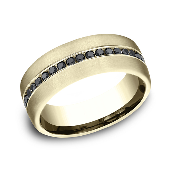 Comfort-Fit Black Diamond Wedding Ring Rialto Jewelry San Antonio, TX