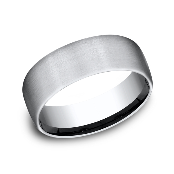 Cobalt Chrome Comfort-Fit Wedding Band by Forge