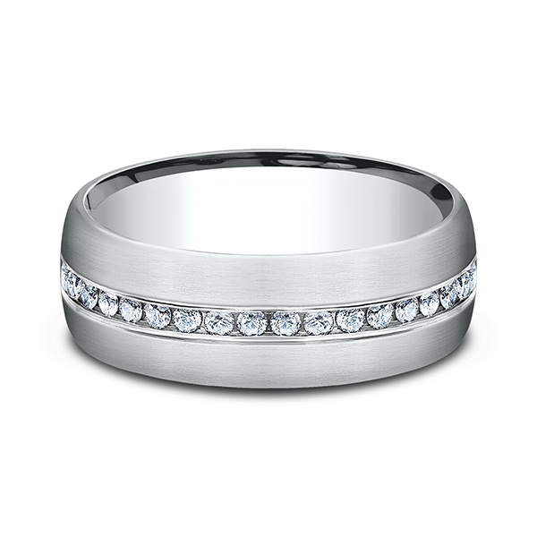 Comfort-Fit Diamond Wedding Ring Image 3  ,