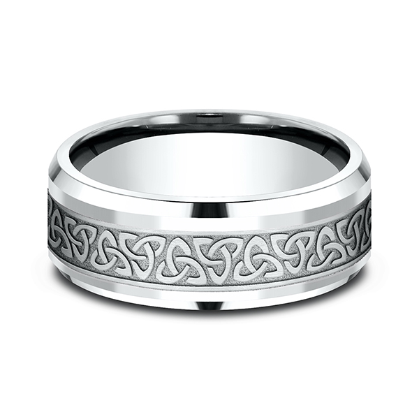 Comfort-Fit Design Wedding Band Image 3 H. Brandt Jewelers Natick, MA