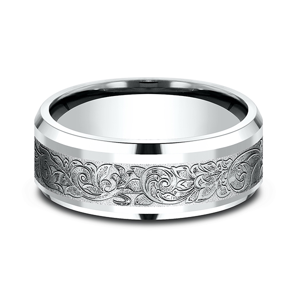 Comfort-Fit Design Wedding Band Image 3  ,