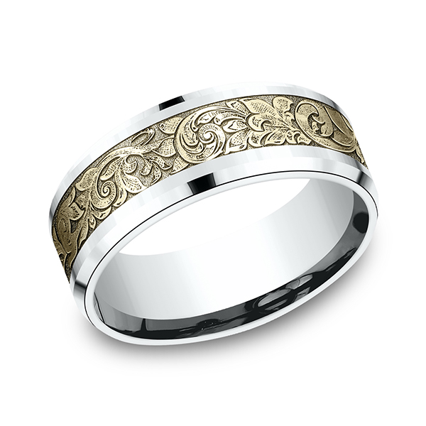 Two Tone Comfort-Fit Design Wedding Ring Mitchell's Jewelry Norman, OK