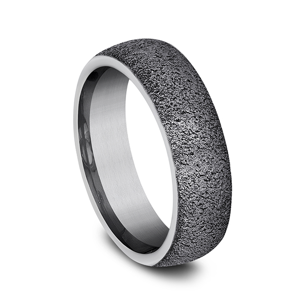 Tantalum Comfort-fit wedding band Image 2 Ross's Rings & Things Kilmarnock, VA