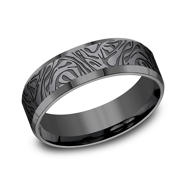 Tantalum Comfort-fit wedding band Rick's Jewelers California, MD